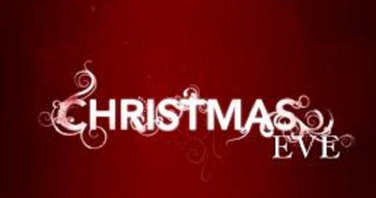 CHRISTMAS EVE DINNER: SATURDAY 24 DECEMBER 2016